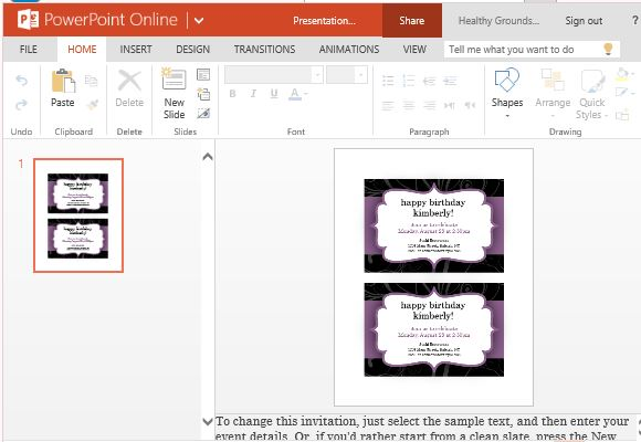 party invitation templates for powerpoint online