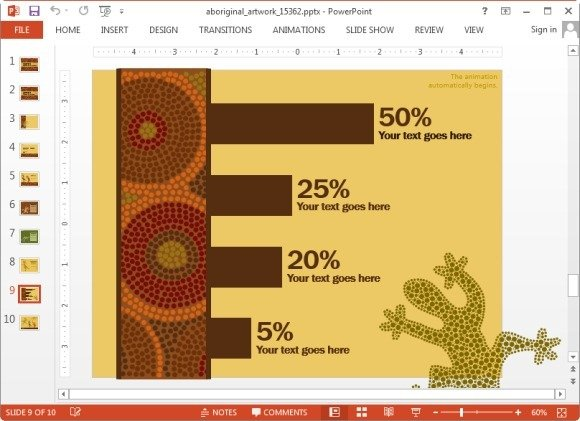 Aboriginal artwork powerpoint template native australian artwork chart toneelgroepblik