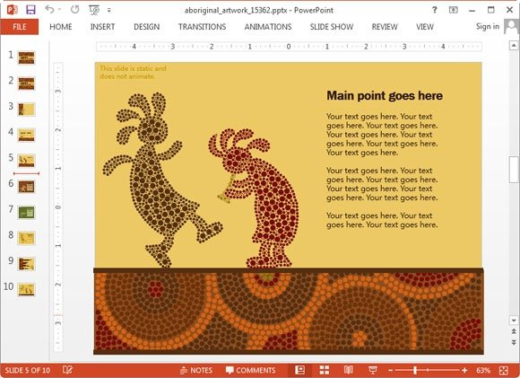 Animated aboriginal artwork powerpoint template native australian culture toneelgroepblik Images
