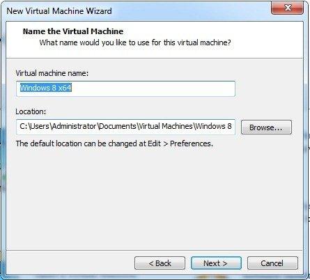 Pick virtual machine location