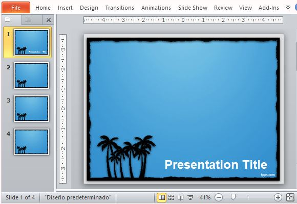 Relaxing Blue and Black Beach Inspired Template