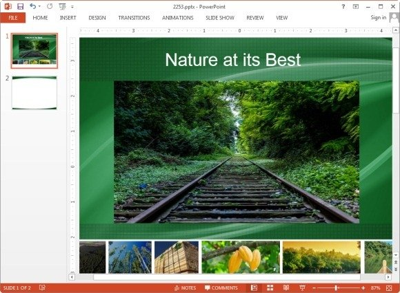 Rotated picture in PowerPoint 2013