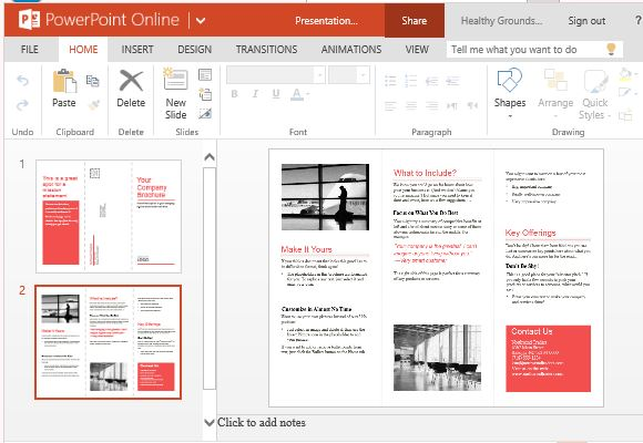 Brochure Template For Powerpoint Online