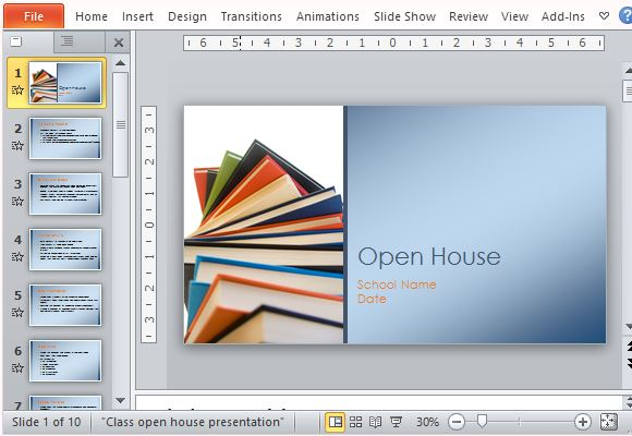 Classroom open house presentation template for powerpoint school open house template for teachers toneelgroepblik Choice Image