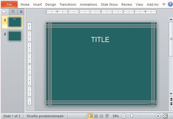 how to add a border to powerpoint slide