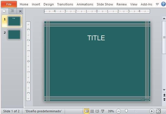 Simple, Teal Handkerchief Design PowerPoint Template