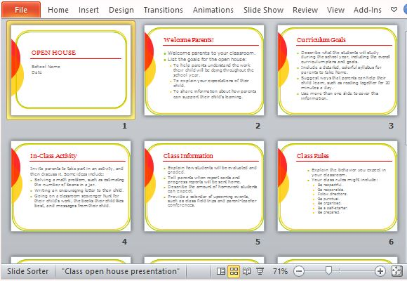 Classroom open house powerpoint template simply follow the guides and instructions toneelgroepblik Images
