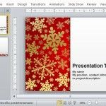 Snowflake Template for Holiday Presentations