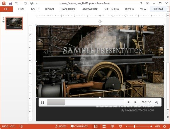 Steam factory Powerpoint template