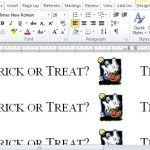 Trick or Treat Label Maker Template