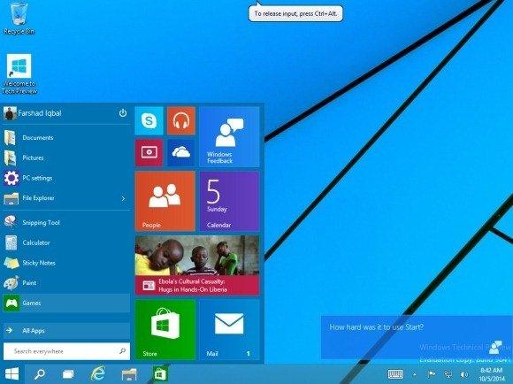 Windows 10 working on VMware