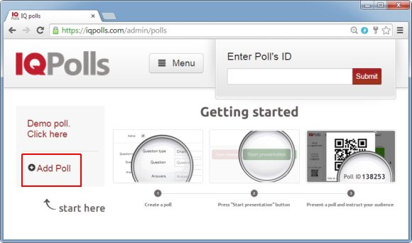 Add poll to IQPolls audience response system