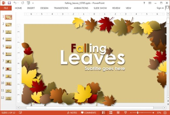 Fall ppt templates akbaeenw animated falling leaves powerpoint template fall ppt templates toneelgroepblik Choice Image