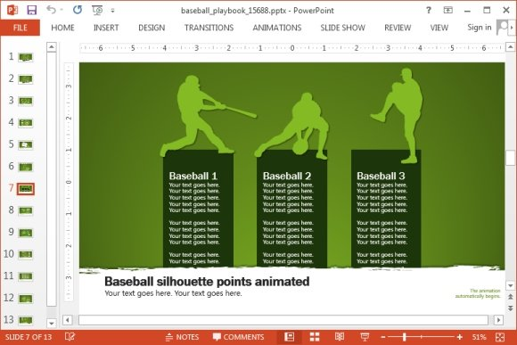 Baseball presentation template