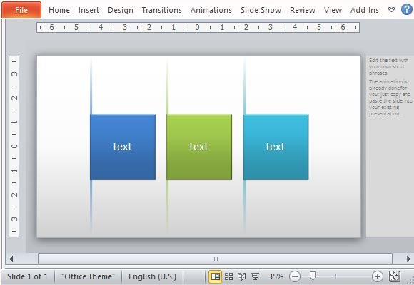 Animated powerpoint template with fading lines and tabs effect beautiful template with built in animation for lists toneelgroepblik Images