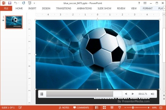 Blue soccer video background template