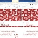 Classic and Elegant Valentine's Day Greeting Card Template for Word Online