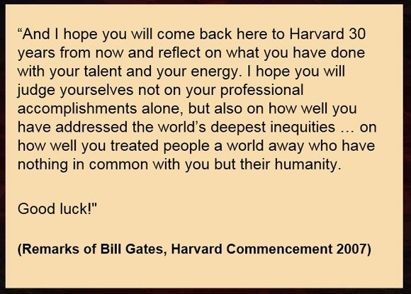 Closing Speech Remarks By Bill Gates  Bill Gates Resume