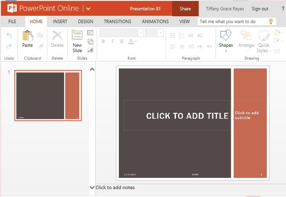 Earth Tone Grid PowerPoint Template