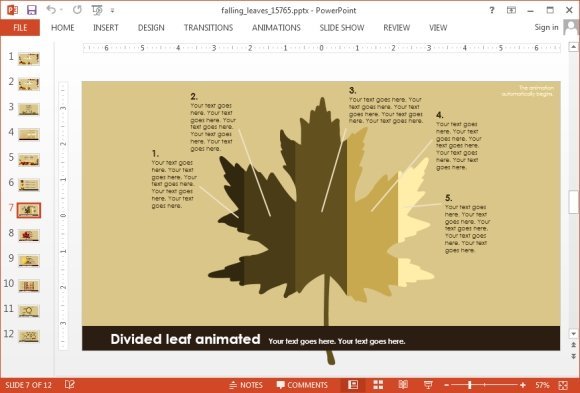 Falling leaves presentation template