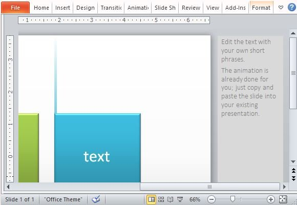 Animated powerpoint template with fading lines and tabs effect follow the tips and instructions to change the text toneelgroepblik Images