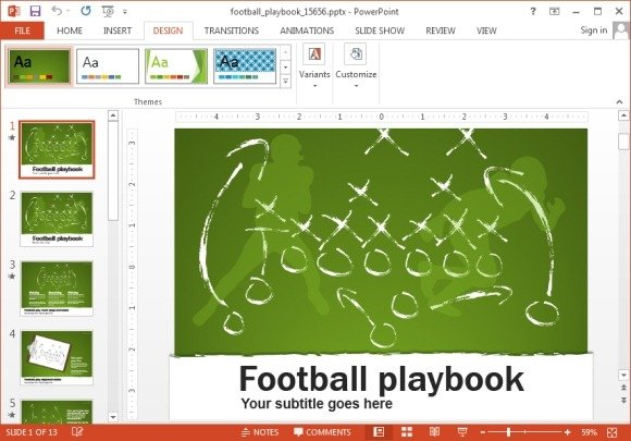 Animated football playbook powerpoint template football playbook powerpoint template toneelgroepblik Gallery