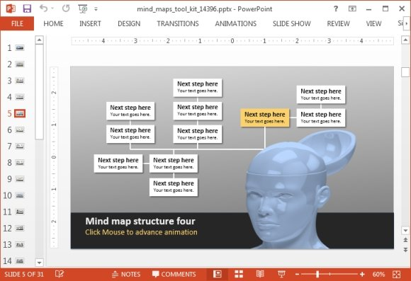 Animated Mind Map PowerPoint Template