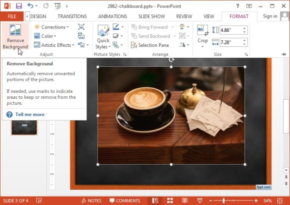 Remove picture background in PowerPoint 2013