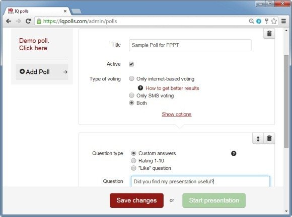 Select a polling method