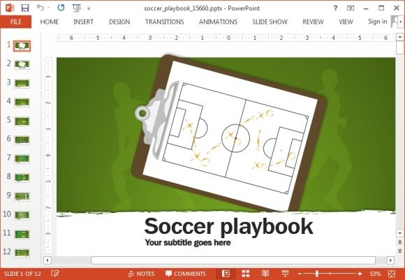 Animated soccer playbook powerpoint templates soccer playbook powerpoint template toneelgroepblik Gallery