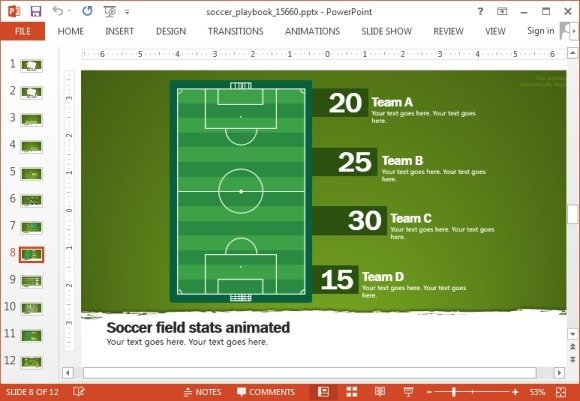 animated soccer playbook powerpoint templates, Powerpoint templates