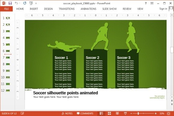 Animated soccer playbook powerpoint templates soccer themed presentation template toneelgroepblik Gallery