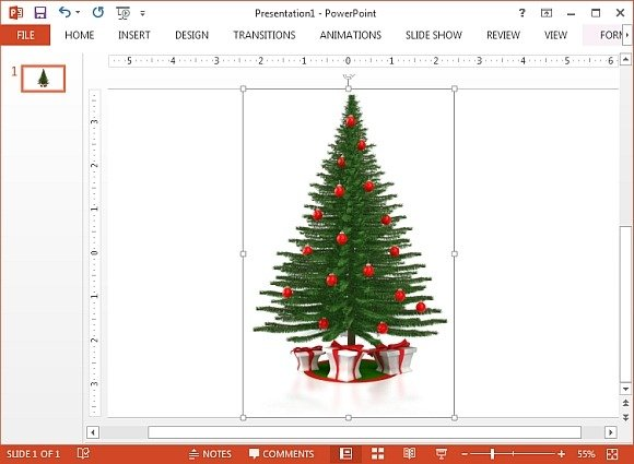 A christmas tree with presents clipart