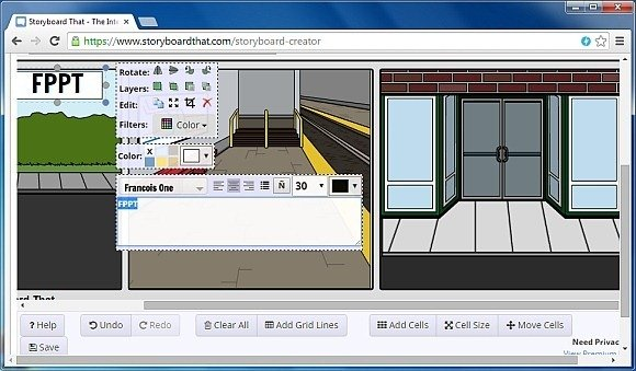 Add textboxes to storyboards