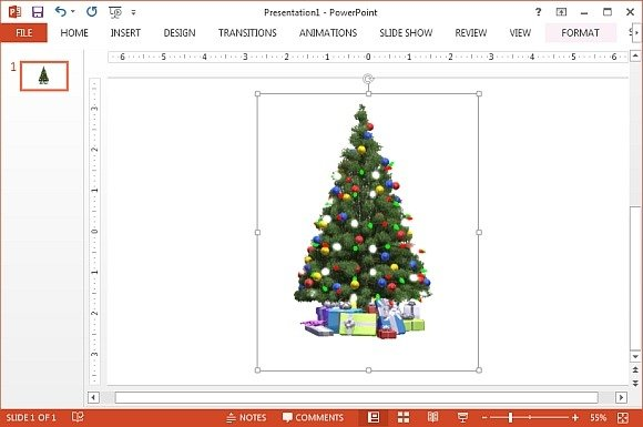 Animated Christmas tree clipart