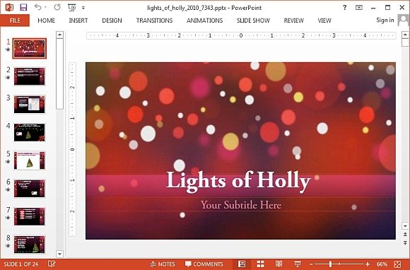 Animated christmas powerpoint templates animated lights of holly powerpoint template toneelgroepblik Gallery