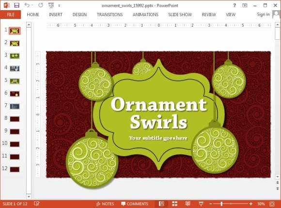 Animated ornaments powerpoint template animated ornaments swirls powerpoint template toneelgroepblik Gallery