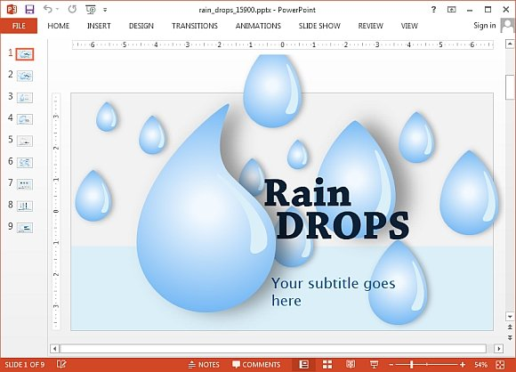 Animated rain drops template for powerpoint animated rain drops powerpoint template toneelgroepblik