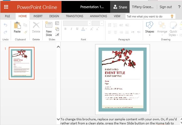 spring flyer template for powerpoint online, Modern powerpoint