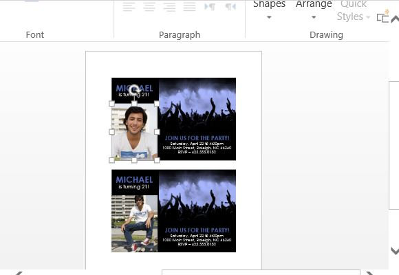 Change the Images to Match Your Event Theme or Celebrant