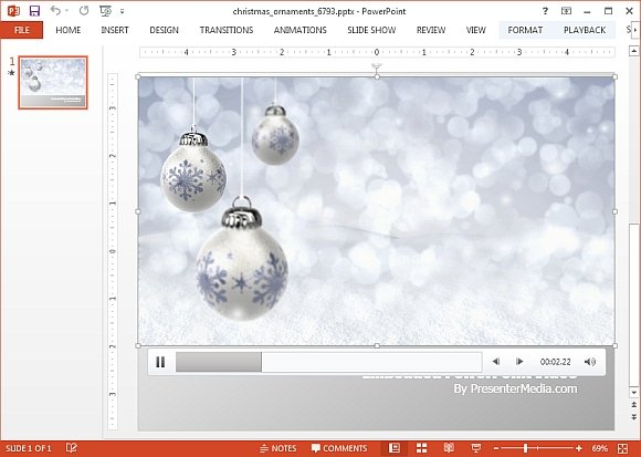 Animated powerpoint templates for christmas season christmas ornaments video background template toneelgroepblik