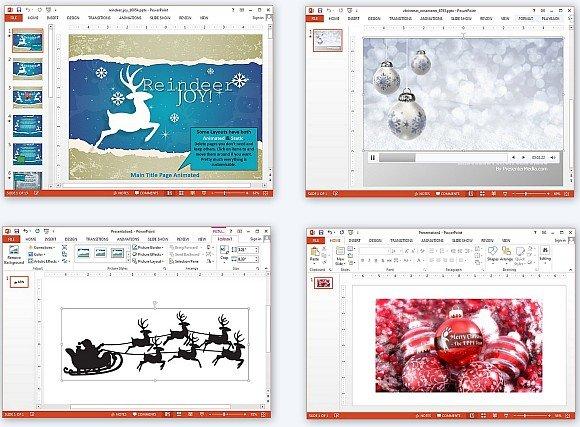 Christmas season PowerPoint templates