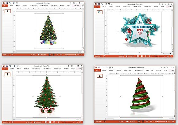 Christmas tree graphics for PowerPoint