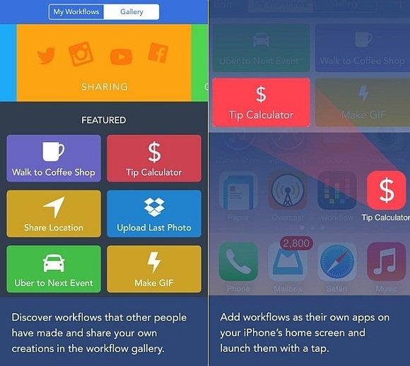 Create workflows on iOS