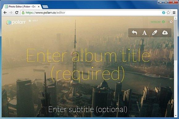 Enter album title