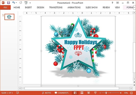Generate custom Christmas clipart