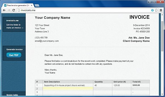 Invoice To Me Web App  Invoice Maker Online