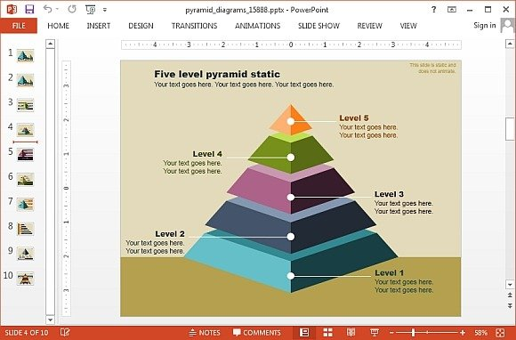 Animated Segmented Pyramid Diagrams For Powerpoint