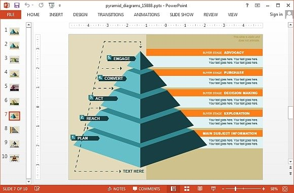animated segmented pyramid diagrams for powerpoint, Modern powerpoint