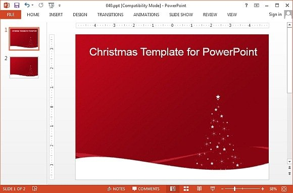 Red Christmas PowerPoint template